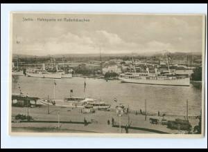 U9939/ Stettin Hafen Ruderhäuschen AK Pommern 1933