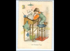 Y15882/ Margret Savelsberg AK Nr. 763 Kind schreibt , Tintenfaß ca.1955