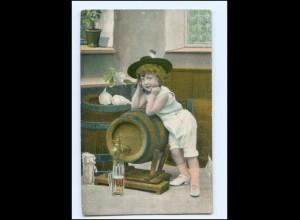 Y15885/ Bier Bierfaß Mädchen AK 1911