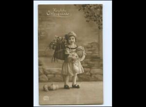 Y15887/ Ostern kleines Mädchen Foto AK 1917