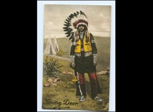 U9957/ Indianer Jonny Deer Ak ca.1925
