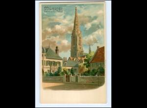 U9930/ Münster Lamberti-Turm Litho AK ca.1900