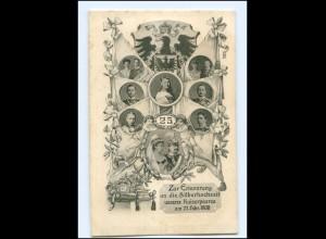 U9924/ Silberhochzeit unseres Kaiserpaares Kaiser Wilhelm AK 1906