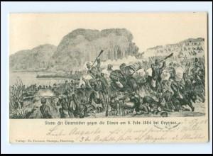 XX009689/ Sturm der Österreicher gegen die Dänen 1864 bei Oeversee AK 1908