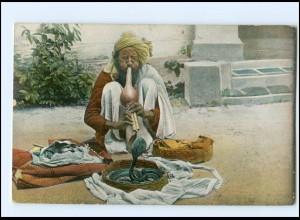 XX009690/ Indischer Schlangenbeschwörer Indien AK 1913