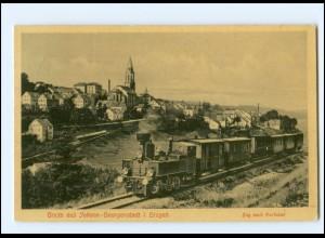 XX009268-083/ Johanngeorgenstadt Zug nach Karlsbad Eisenbahn Ak 1909