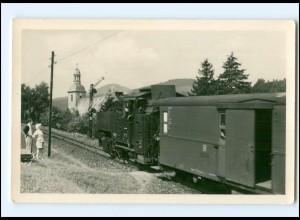 """XX009688-027/ Jonsdorf Zittauer Gebirge Eisenbahn """"di Bimmelboahn"""" Foto AK 1955"""