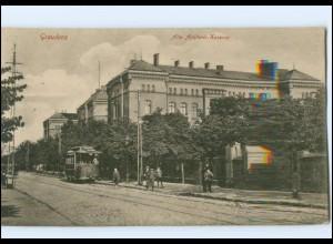 XX009725/ Graudenz Artillerie-Kaserne Straßenbahn AK 1915 Westpreußen