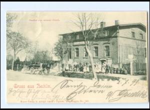 XX009330-168/ Gruß aus Bechlin b. Neuruppin Gasthof zum weißen Hirsch AK 1899
