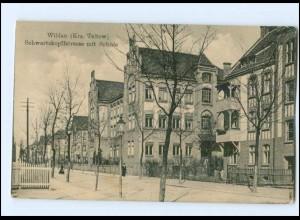 XX009606-157/ Wildau Krs. Teltow Schwarzkopffstr. mit Schule AK ca.1912