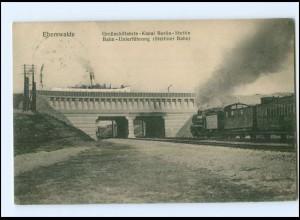 XX009765-162/ Eberswalde Kanal Berlin-Stettin Eisenbahn Ak 1912