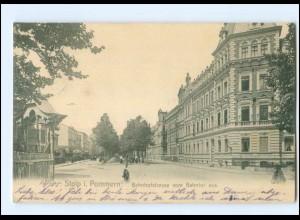 XX009367/ Stolp Bahnhofstraße Pommern AK 1905
