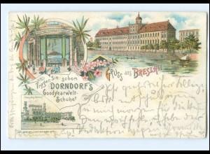 XX009674/ Gruß aus Breslau Dorndorf`s Goodyearwelt-Schuhe Litho AK 1898