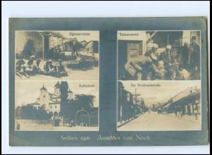 XX009699/ Nisch Serbien Türken- u. Zigeuner-Viertel, Zar Ferdinandstr. Foto AK