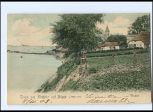 XX009489-185./ Altefähr auf Rügen Strand 1908 AK