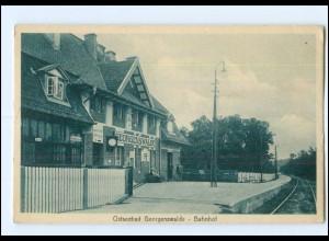 XX009448/ Ostseebad Georgenswalde Bahnhof AK ca.1930