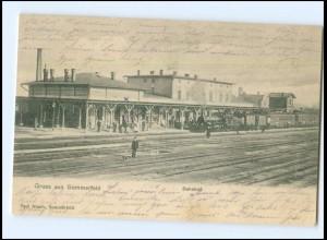 XX009647/ Sommerfeld Lubsko Bahnhof AK 1904 Ostbrandenburg