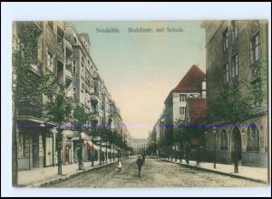 XX009296/ Berlin Neukölln Boddinstraße mit Schule AK 1912