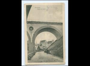XX009722/ Allenstein Viadukt mit Schloß Ostpreußen AK 1914