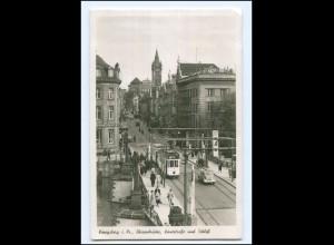 XX009723/ Königsberg Börsenbrücke Straßenbahn Foto AK 1943