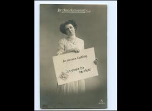 V080/ Briefmarkensprache schöne Foto AK ca.1910