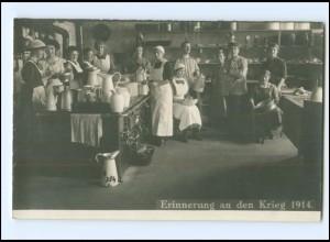 V020/ Haushaltungsschule Küche Kochen schöne Foto AK 1914