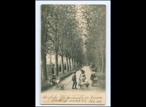 Y16056/ Zürich Delvoir-Park Mädchen mit Puppenwagen AK Schweiz 1907