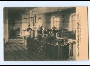 V117-8551/ Gremsdorf KLoster- u. Wohltätigkeitsanstalt Küche Kochen AK ca.1925