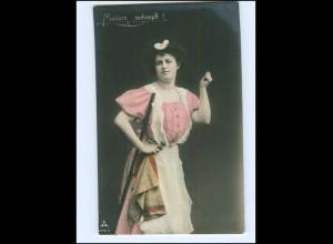 V090/ Berufe - Madame schimpft! Hausangestellte Haushälterin Foto AK 1914