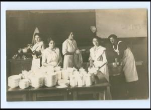 V016/ Haushaltungsschule Küche Teeküche Foto AK 1914
