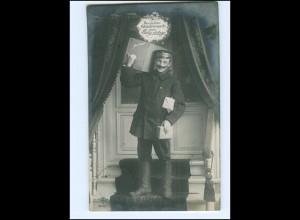 Y16129/ Geburtstag Briefträger Expressbote Foto AK 1909