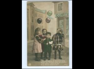Y16051/ Kinder mit Luftballon NPG Foto AK 1912