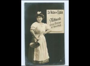 V086/ Wochentag Mittwoch - Die Woche der Köchin - Foto AK 1907