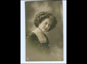 Y16077/ Junge hübsche Frau Foto koloriert AK ca.1910