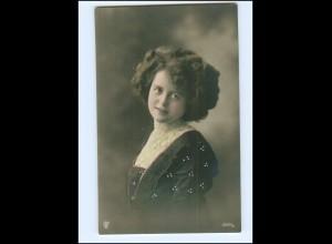Y16079/ Junge hübsche Frau Foto koloriert AK ca.1910