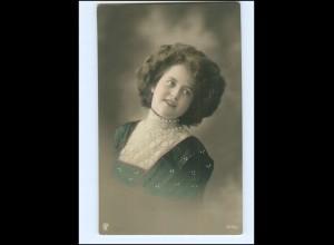 Y16081/ Junge hübsche Frau Foto koloriert AK ca.1910