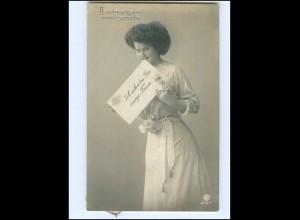 V083/ Briefmarkensprache schöne Foto AK 1911