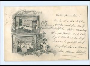 U9998/ Wien Erster Wiener Hausfrauen-Verein Kochschule AK 1909