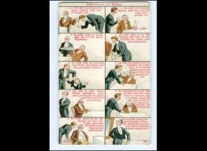 Y16036/ Die zehn Gebote des Kellner Litho Humor AK ca.1912