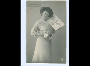 V084/ Briefmarkensprache schöne Foto AK 1911