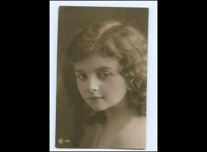 Y16197/ Hübsches Mädchen schöne NPG Foto AK ca.1910