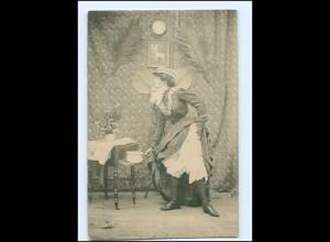 V064/ Frau mit Nachttopf AK ca.1900