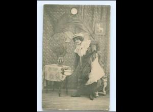 V065/ Frau mit Nachttopf AK ca.1900