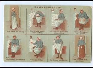 Y16214/ Kammersitzung - Toilette Humor Litho Ak ca.1910