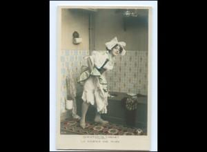 Y16212/ Toilette junge Frau schöne Foto AK ca.1910