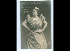 Y16177/ Schauspielerin Josephine Dora - Oh. diese Dienstboten Foto AK ca.1910