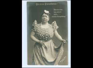 Y16178/ Schauspielerin Josephine Dora - Oh. diese Dienstboten Foto AK ca.1910