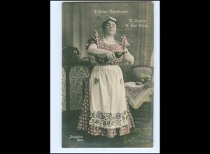 Y16181/ Schauspielerin Josephine Dora - Moderne Dienstboten Foto AK ca.1910