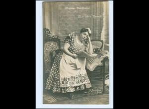 Y16180/ Schauspielerin Josephine Dora - Moderne Dienstboten Foto AK ca.1910