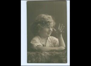 Y16065/ Kleines Kind Mächen schöne NPG Foto AK 1908